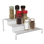 Kitchen Details 3 Tier Spice Rack Shelf Organizer, Grey (24125-GREY)