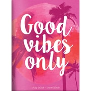 "TF Publishing July 2018-June 2019 Good Vibes Monthly Planner, 7.5"" X 10.25"" (19-4216A)"