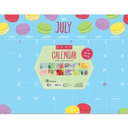 "TF Publishing July 2018-June 2019 Monthly Theme Desk Pad Calendar, 22"" X 17"" (19-8024A)"