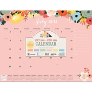"TF Publishing July 2018-June 2019 Floral Desk Pad Calendar, 22"" X 17"" (19-8099A)"