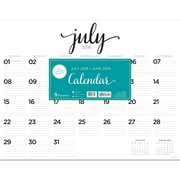 "TF PUBLISHING JULY 2018-JUNE 2019 SCRIPT DESK PAD CALENDAR 22"" X 17"" (19-8204A)"
