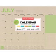 "TF Publishing July 2018-June 2019 Kraft Desk Pad Calendar, 22"" X 17"" (19-8215A)"