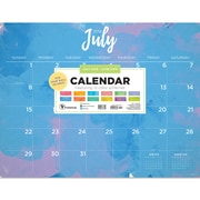 "TF Publishing July 2018-June 2019 Watercolor Desk Pad Calendar, 22"" X 17"" (19-8235A)"