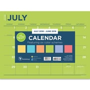 "TF Publishing July 2018-June 2019 Color Collection Mini Desk Pad Calendar, 12"" X 9"" (19-8548A)"