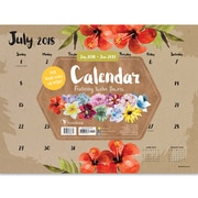 "TF Publishing July 2018-June 2019 Floral Mini Desk Pad Calendar, 12"" X 9"" (19-8599A)"