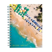 """TF PUBLISHING JULY 2018-JUNE 2019 TROPICAL BEACHES MEDIUM WEEKLY MONTHLY PLANNER 6.5"""" X 8"""" (19-9097A)"""