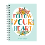 """TF Publishing July 2018-June 2019 Heart Medium Weekly Monthly Planner, 6.5"""" X 8"""" (19-9102A)"""