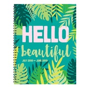 "TF Publishing July 2018-June 2019 Hello Large Weekly Monthly Planner, 9"" X 11"" (19-9605A)"