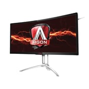 """aoc Agon 35"""" LED LCD Curved Gaming Monitor, Black/Silver"""