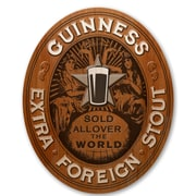Guinness Oval Extra Stout Decorative Sign (645619067633)