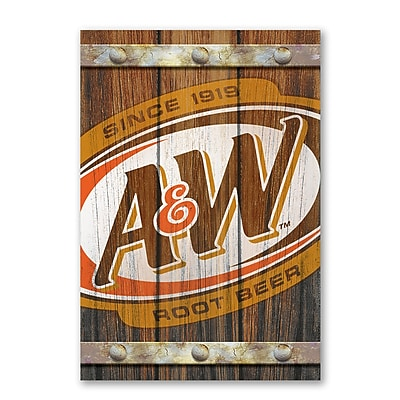 A&W Faux Fence Slats Decorative Sign with 3-D Elements MDF (645619067541)