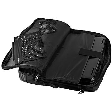 Vangoddy Nylon Messenger Business Bag Case Fits Up to 17.3 Inch Laptop, Black (PT_NBKLEA782_17)