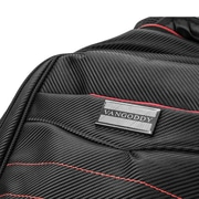 Vangoddy Business School Casual Backpack Computer Bag fits up to 15.6 Inch Laptop and Notebook, Black-Red (PT_BPKLEA002)