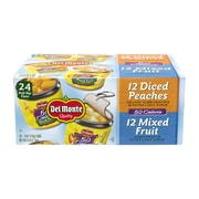 Del Monte 50 Calorie Lite Fruit Cup Cans Variety, 4 oz, 24 Count (220-00748)