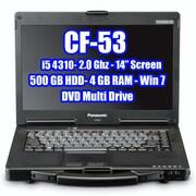 "Panasonic Toughbook Refurbished CF-53 MK4 14.0"" LCD Laptop Computer, Intel Core i5-4310U 2.0GHz, 500GB, 4GB, Windows 7 Pro"