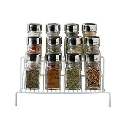 Kitchen Details, Spice Rack Shelf Organizer, White,
