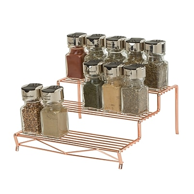 Kitchen Details, 3 Tier Spice Rack, Copper,