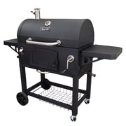 Dyna-Glo X-Large Premium Dual Chamber Charcoal Grill,Stainless (DGN576SNC-D)