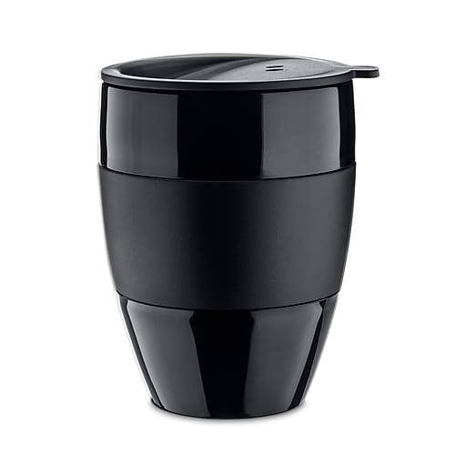 Koziol Solid Black Aroma To Go 20 Insulated Cup With Lid 135 Oz