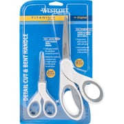 "Acme Westcott Titanium Bonded 5"" Straight & 8"" Bent Scissors (16378)"