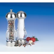 "Trudeau Maison Pepper Mill & Salt Shaker 7""H, Chrome & Clear (716213)"