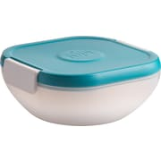 "Trudeau Maison Salad To-Go W/Integrated Ice Cap & Dressing Cup 7""X7""X3""-Blue (34808329)"
