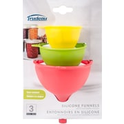Trudeau Maison Silicone Funnels 3/Pkg-Red, Yellow & Green (9950197)