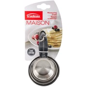 Trudeau Maison Stainless Steel Measuring Cups Set Of 4-Gray (519029)