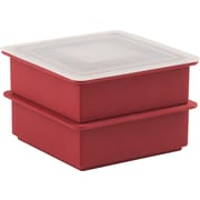 Trudeau Maison Silicone Ice Cube Trays W/Lid Set Of 2-Red (578425)