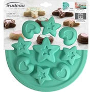 Trudeau Maison Silicone Cookie Mold Pan-Stars & Hearts 9 Cavity (5117504)