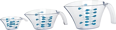 Trudeau Maison Measuring Cups Set Of 3-Clear W/Blue Markings (995922) 24315722