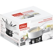 Trudeau Maison Classico Cheese Fondue Set-White & Black (534511)