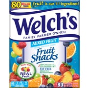 Welch's Fruit Snacks .9 Ounce Pouches Mixed Fruit, Pack of 80 (PIM69880)