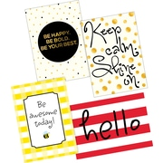 Barker Creek Hello! You're Awesome & Shine on! Posters, 4/Set (BC3604)