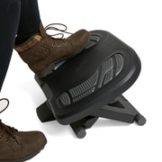 Mind Reader Adjustable Height Under Desk Non-Slip Ergonomic Foot Rest with Foot Prints, Gray (FOOTPRINT-GRY)