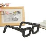 Mind Reader Versatile Decorative Cast Iron Glasses Table Decor or Paperweight, Black (GLASSDEC-BLK)