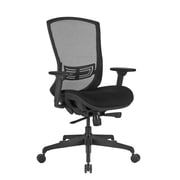 Global Mesh High Back Executive Chair, Black, Adjustable Arms (PS637004)