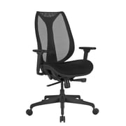 Global Mesh High Back Executive Chair, Black, Adjustable Arms (PS637013)