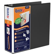 "QuickFit D-Ring View Binder, 3"" Black (87051)"