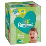 Pampers Baby Wipes Complete Clean Unscented 720ct