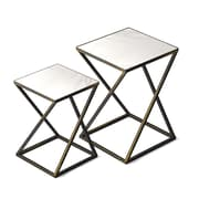 Jamesdar Katrine Arden Side Table, Black Gold, Set of 2 (JKTAB262-T)