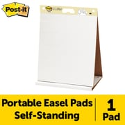"Post-it®,  Tabletop Easel Pad, 20"" x 23"", Unruled, Plain White (563R)"