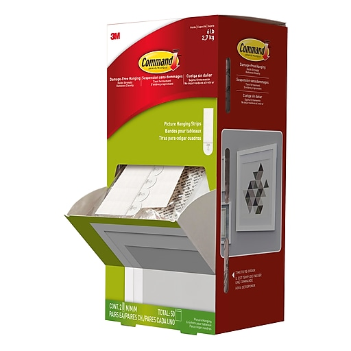Command medium picture hanging strips white 50pack staples httpsstaples 3ps7is malvernweather Image collections