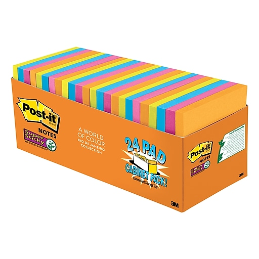 post it super sticky notes rio de janeiro collection 3 x 3 24