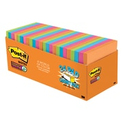 """Post-it® Super Sticky Notes, 3"""" x 3"""" Rio De Janeiro Collection, 70 Sheets/Pad, 24 Pads/Cabinet Pack (654-24SSAU-CP)"""