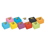 """Post-it® Super Sticky Notes, 3"""" x 3"""", Neon Pink, 90 Sheets/Pad, 5 Pads/Pack (654-5SSNP)"""
