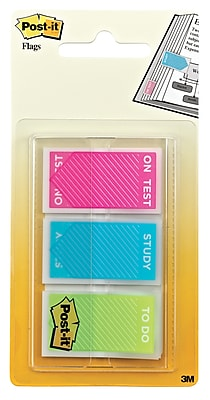 Post-it® 'Study', 'On Test' and 'To Do' Message Flags, .94