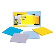 """Post-it® Super Sticky Full Adhesive Notes, 3"""" x 3"""" New York Collection, Lined, 25 Sheets/Pad, 12 Pads/Pack (F330-12SSAL)"""