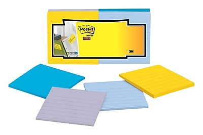 Post-it® Super Sticky Full Adhesive Notes, 3