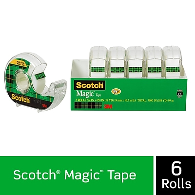 Scotch® Magic™ Tape with Built-in Refillable Dispenser, 3/4